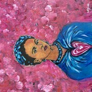 Frida Amongst the Cherry Blossoms SOLD