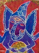Ganesha & the Golden Sphere SOLD