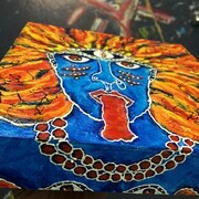 Kali on Fire (view around the edges) SOLD
