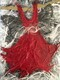 Red Butterfly Dress with Feather, SOLD