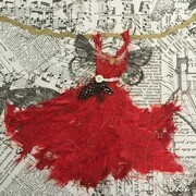 Red Fairy Dress Dancing with Freedom SOLD