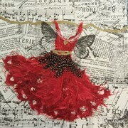 Red Fairy Dress Dancing with Love SOLD