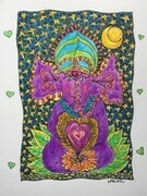 Vinayaki in the Midnight Garden of Love SOLD